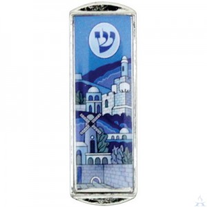 Car Mezuzah Blue