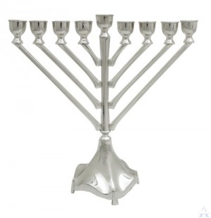 Elegant Nickel Rambam Menorah