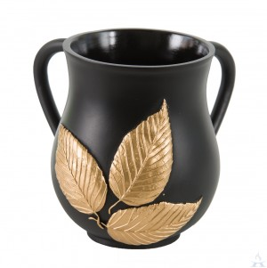 Wash Cup Polyresin - Black Leaf
