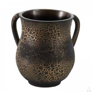 Polyresin Wash Cup - Black / Gold