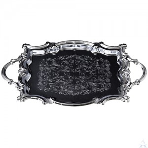 NIckel Tray with Handles