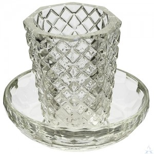 Crystal Kiddush Cup With Plate