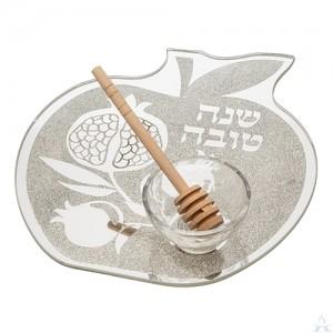 Glass Plate for Apple & Honey