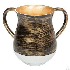 Wash Cup Aluminum Black & Gold