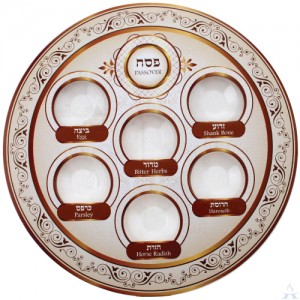 Seder Plate Brown Tones