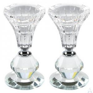 Crystal Candlesticks Pair