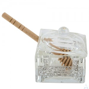 Honey Dish Crystal Square