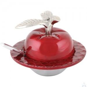Aluminum Honey Dish Apple