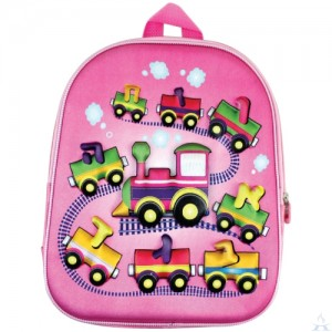 Backpack Aleph Bet Pink Train