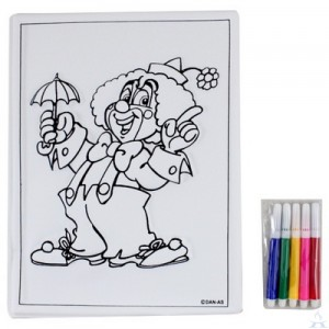 Clown w/ Umbrella Purim Craft