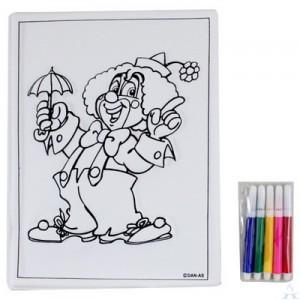 Clown w/ Umbrella Purim Craft