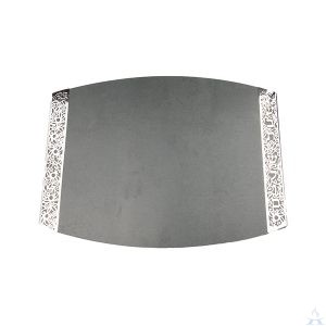 Challah Board Porcelain Grey with Metal Cutout
