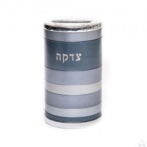 Tzedakah Box Anodized Greys