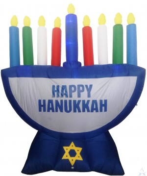 Inflatable Menorah w/LED Lights