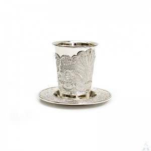Kiddush Cup & Tray Silverplate