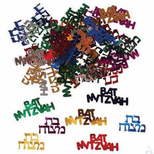 Bat Mitzvah Confetti - Multicolored