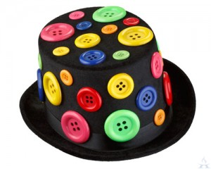 Button Top Hat
