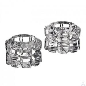 Candleholders Crystal Pair