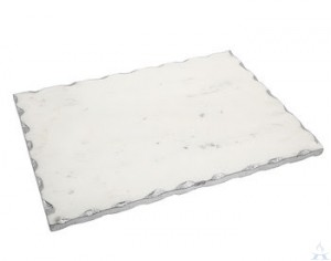 Challah Board White Marble