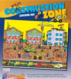 Construction Zone Sticker Kit