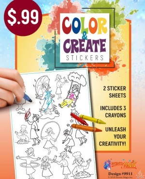 Color & Create Stickers Girls