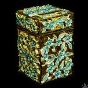 Charity Box Jeweled Enameled