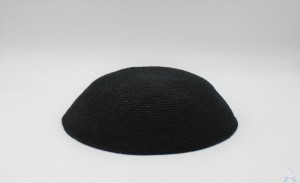 Dmc Black Knit Yarmulka 18Cm