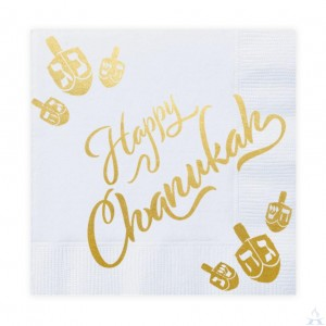 Chanukah Napkins Gold Foiled