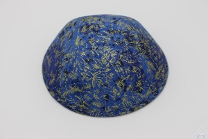 Kippah Blue Brush