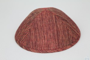 Kippah Burgundy Gold
