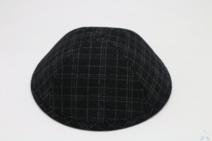 Kippah Black Check