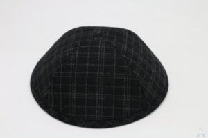 Kippah Black Check