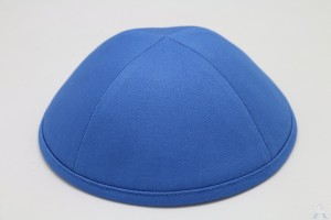 Kippah Blue Cotton