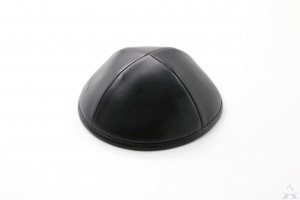 Kippah Black Leather