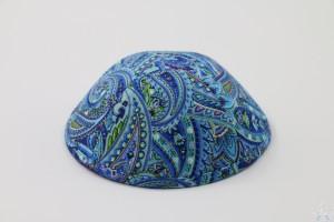 Kippah Blue Paisley