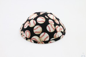 Kippah Baseball Black