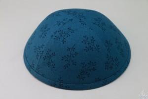 Kippah Blue Sprig
