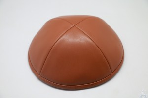 Kippah Camel Leather