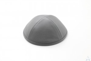 Kippah Grey Leather