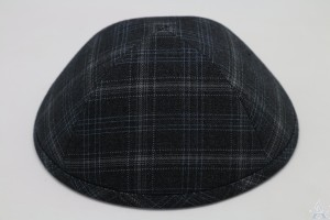Kippah Grey Plaid Suiting
