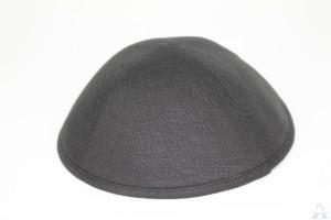 Kippah Black Linen