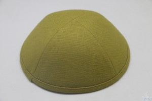 Kippah Light Olive Linen