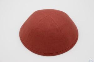 Kippah Chestnut Linen