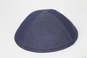 Kippah Navy Denim
