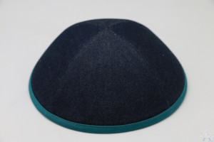 Kippah Denim Persian Green Rim