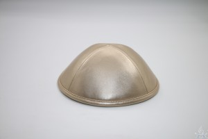Kippah Rose Gold Leather