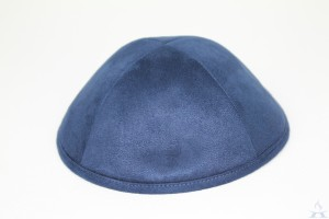 Kippah Navy Suede Look