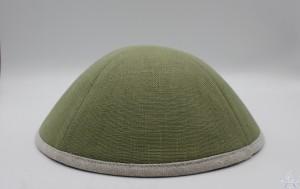Kippah Sage Linen with Rim