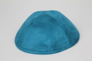 Kippah Teal Suede Look