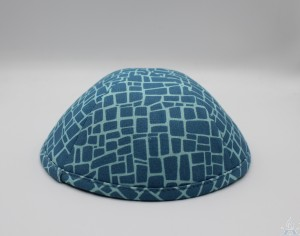 Kippah Teal Blocks